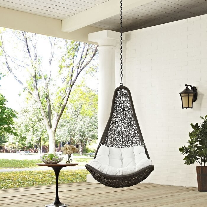 Gemmenne swing chair in gray/white