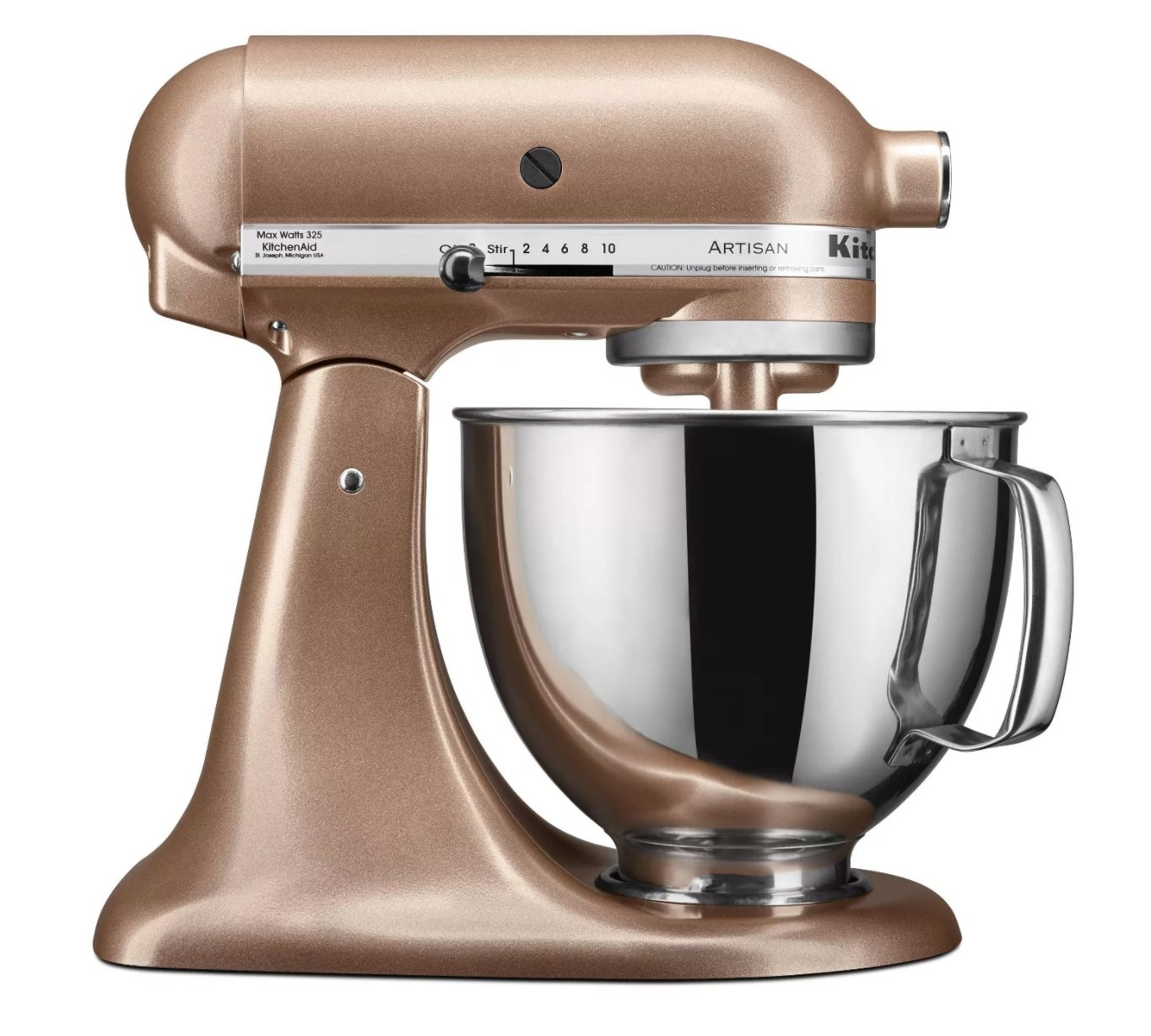 "The stand mixer in the color ""toffee delight"""