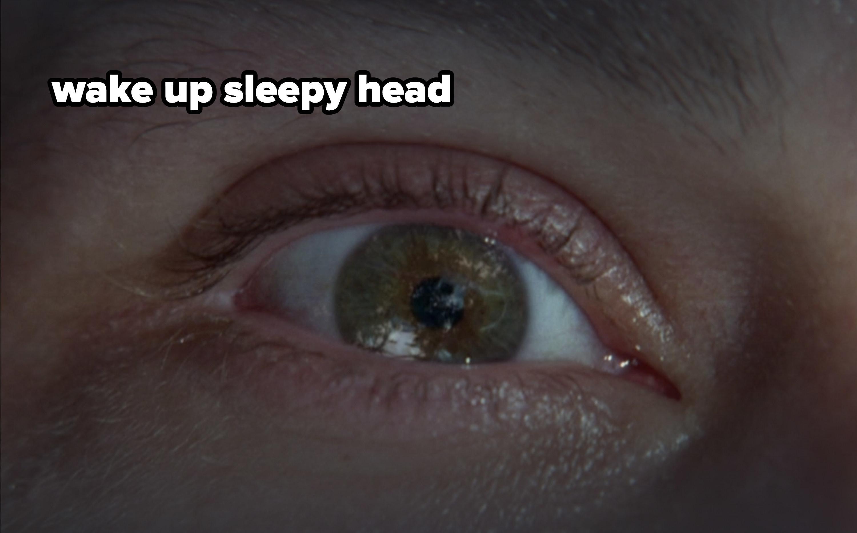 Close up of Jack's eye