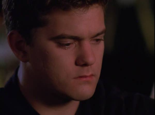 Pacey cries after Joey ends things.