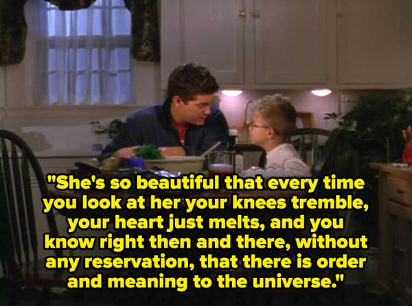 Pacey describes Joey's beauty to Buzz.