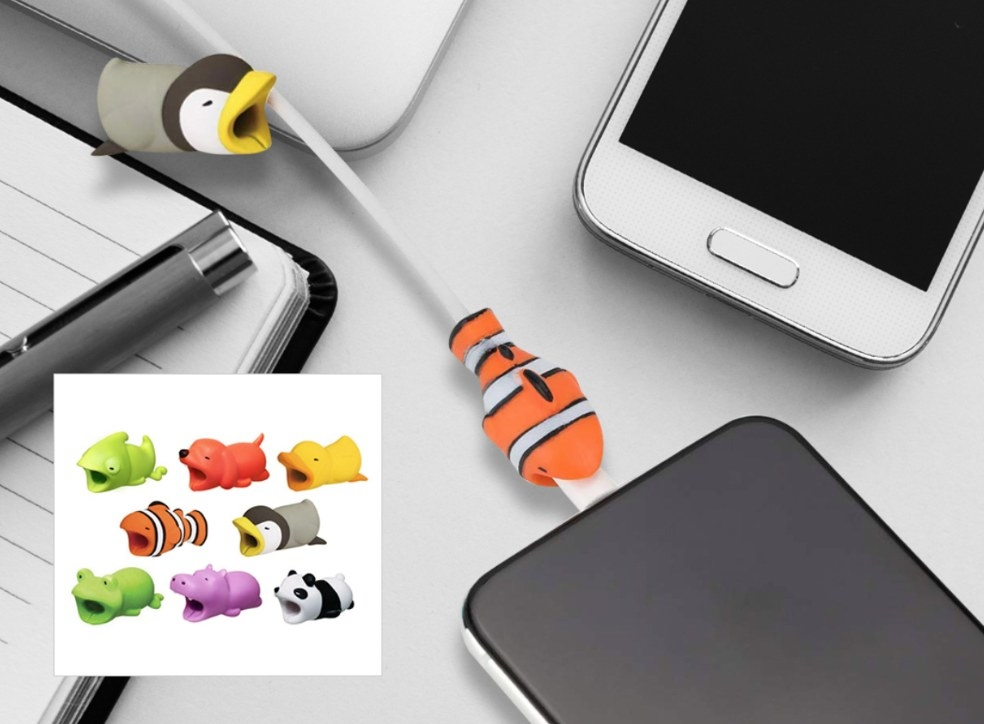 tiny cable bites shaped like cute animals