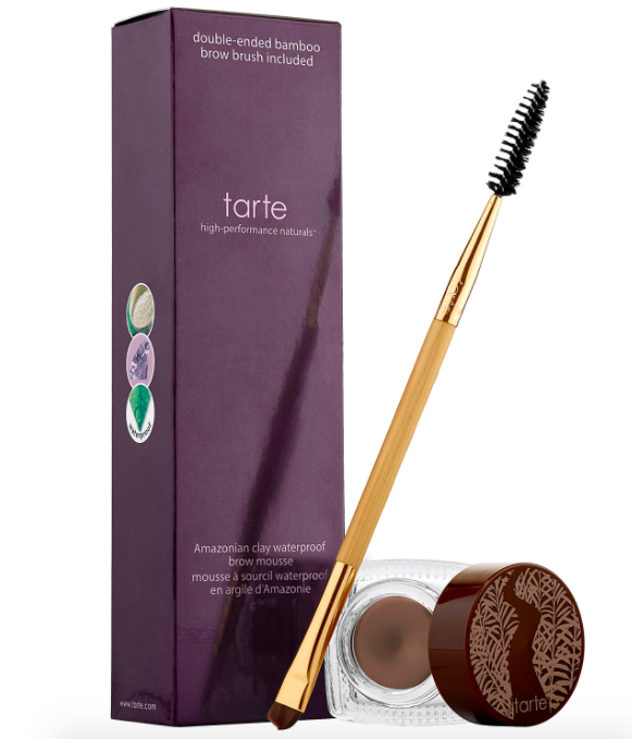The Amazonian clay waterproof brow mousse and brush applicator
