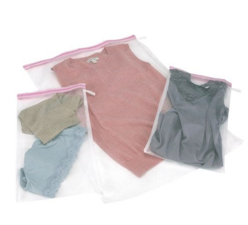 three different mesh bags in different sizes