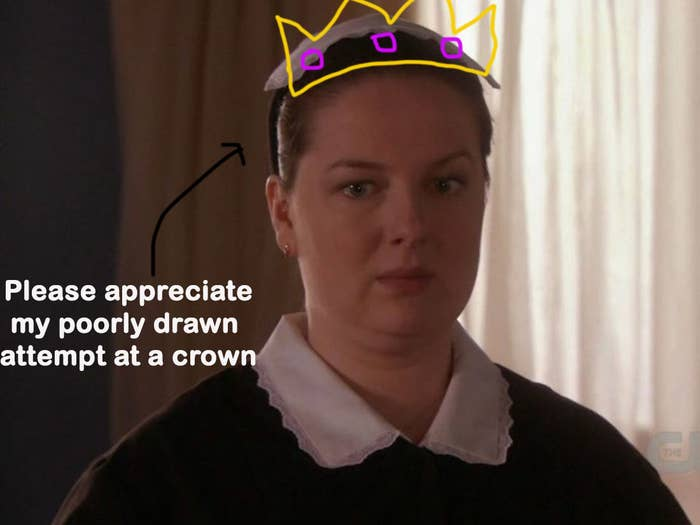 Dorota with a crown over her head