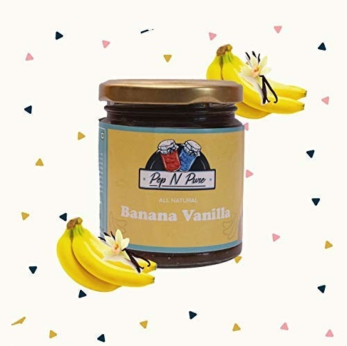 Jar of the banana and vanila jam