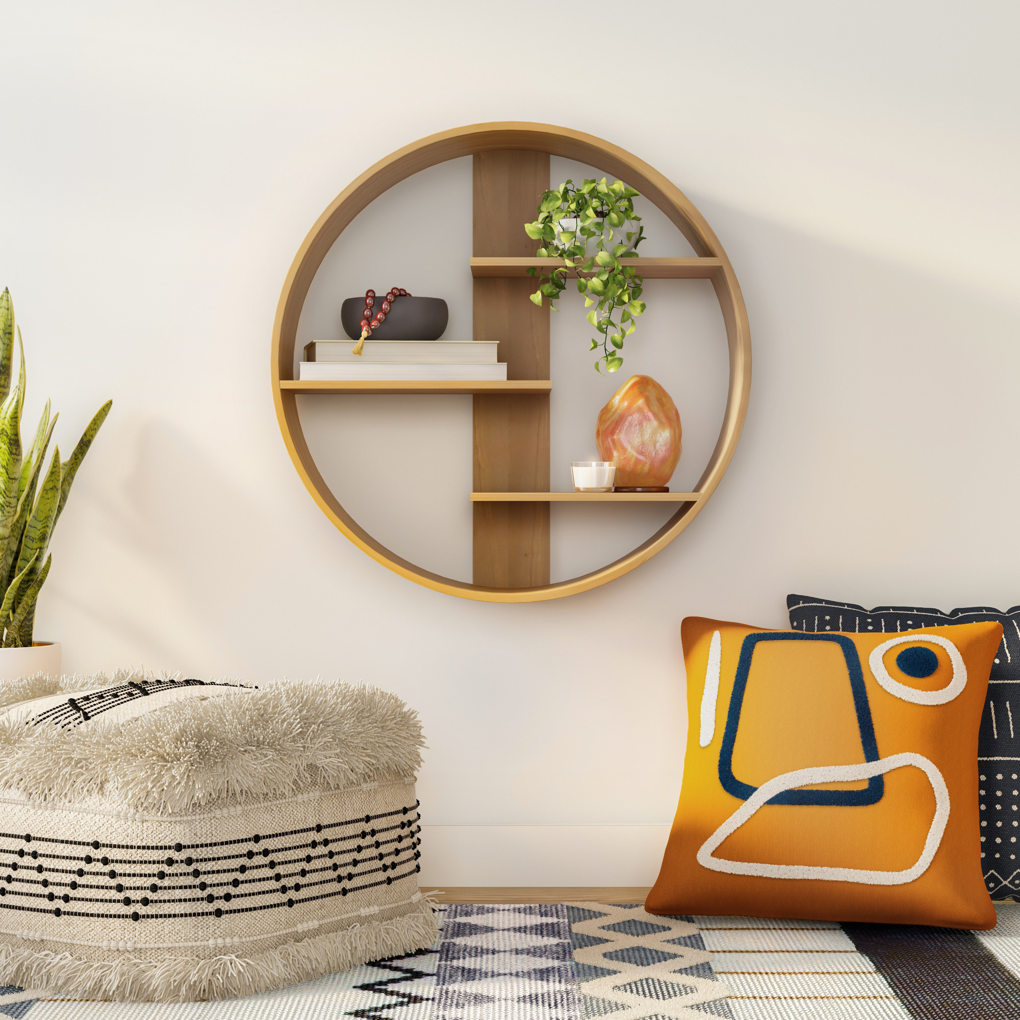 the circular shelf