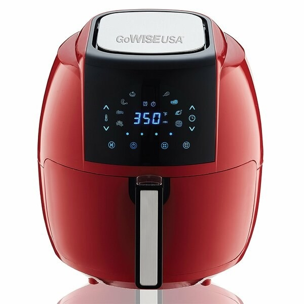 GoWISE electric air fryer in chili red