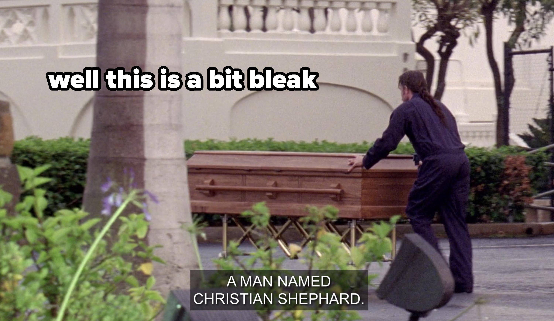 Coffin of Christian Shephard