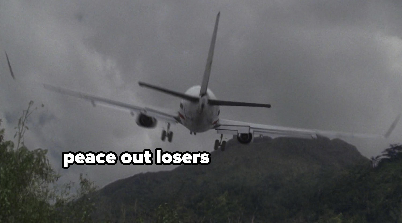 Plane flying away
