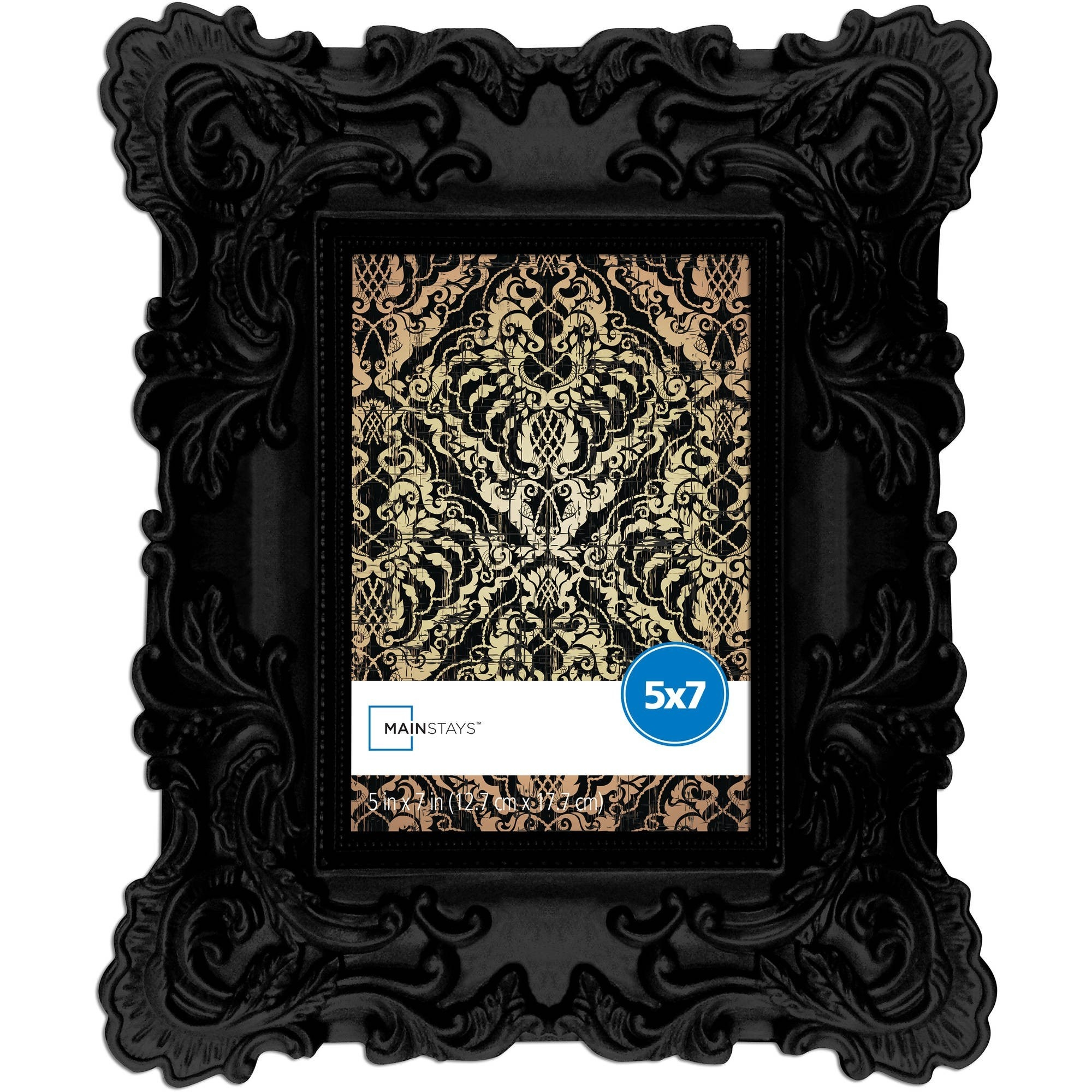 a black baroque frame
