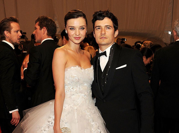 A photo of Miranda Kerr and Orlando Bloom on the red carpet of the 2011 Met Gala