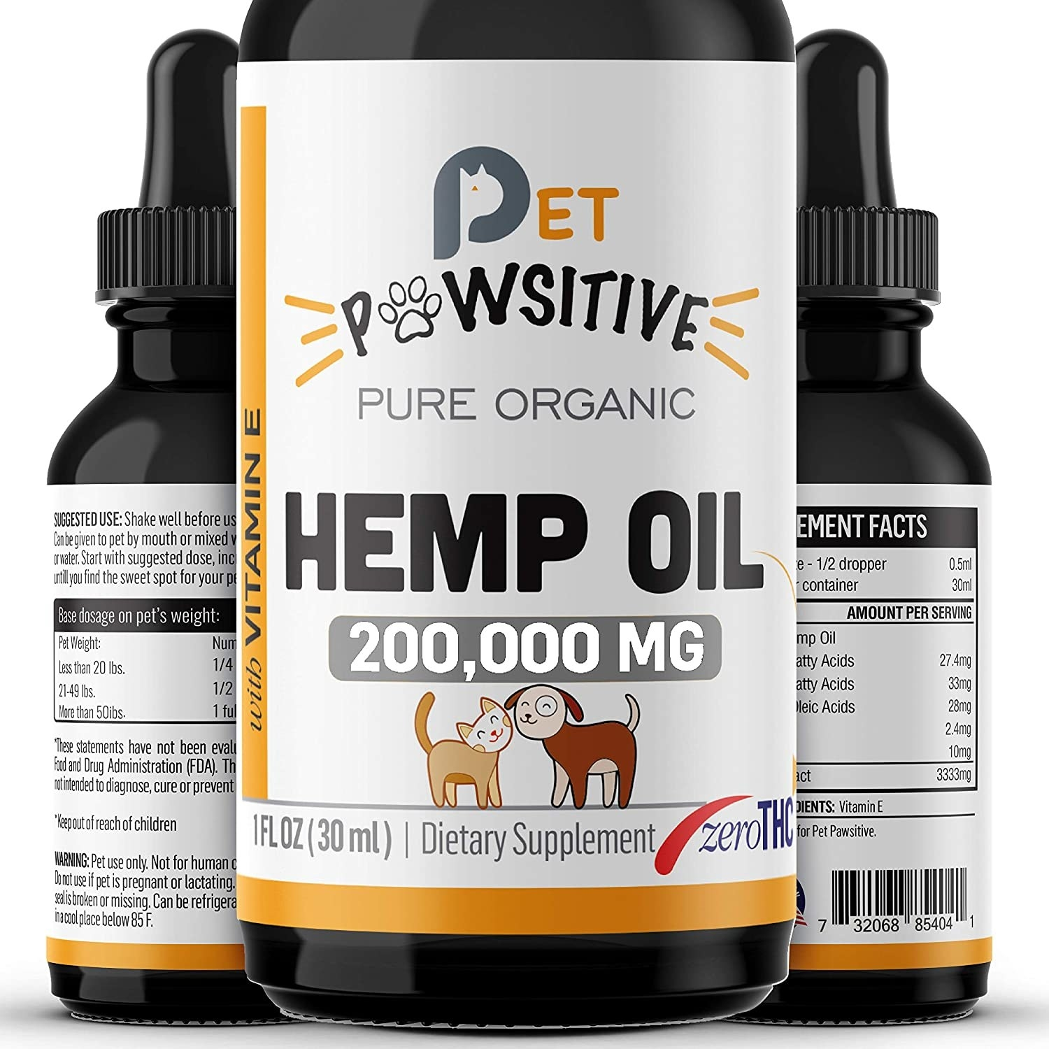 the bottle of hemp oil
