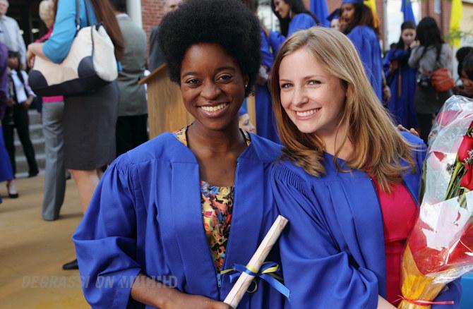 Chantay and Holly J. at graduation