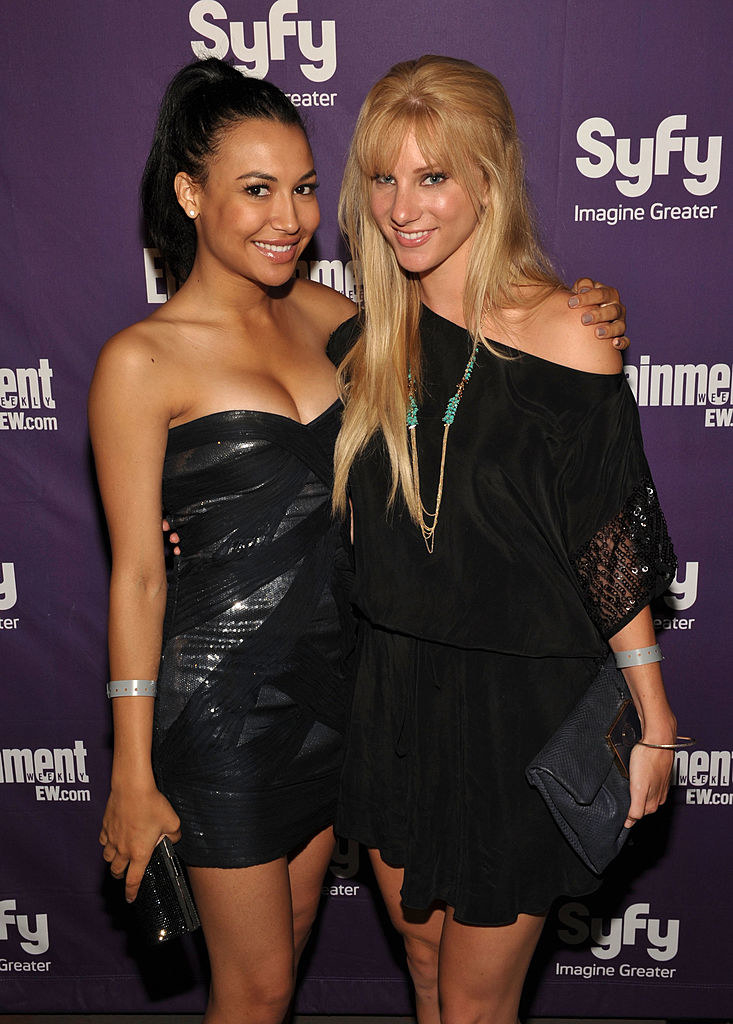 Heather Morris and Naya Rivera posing together at an event