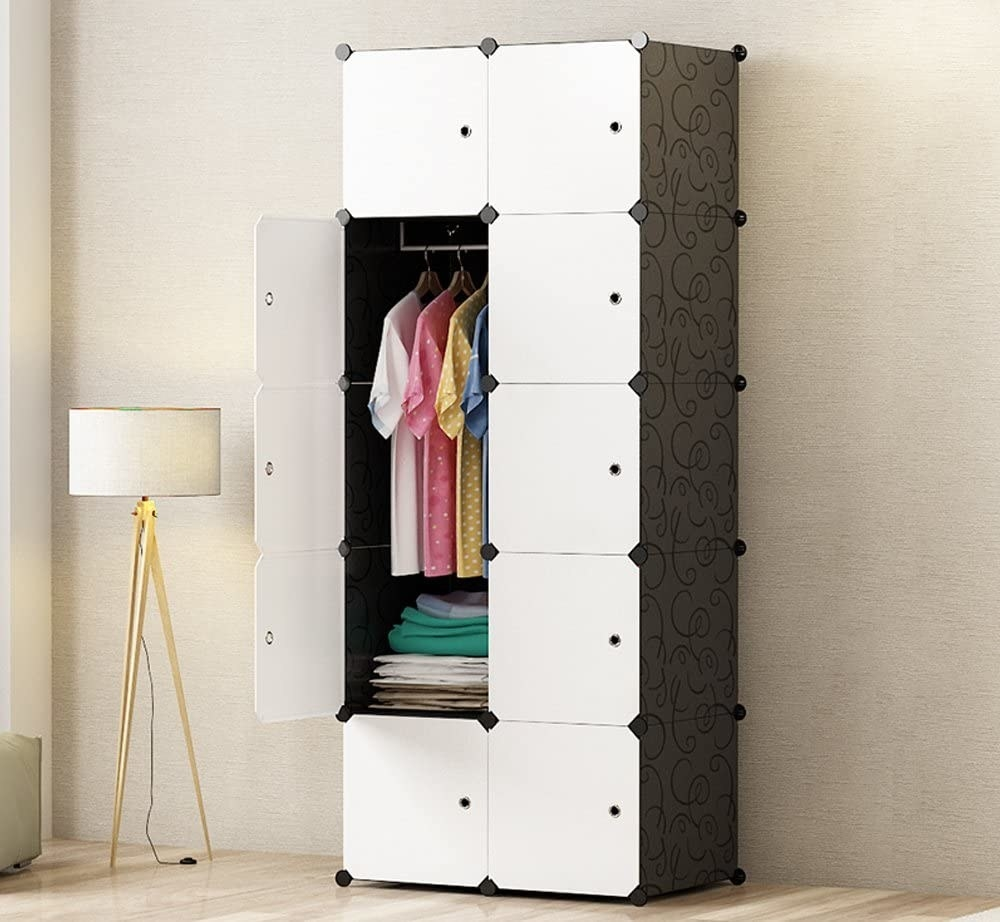 The ten cube closet installed in a room with some doors open to show off its capaciousness