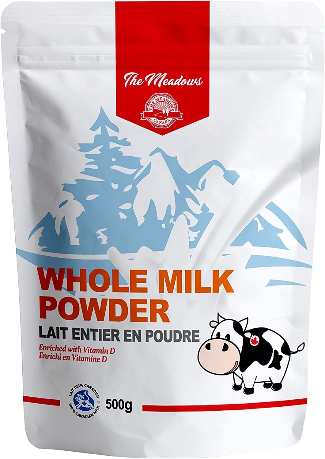 A 500g bag of whole milk powder