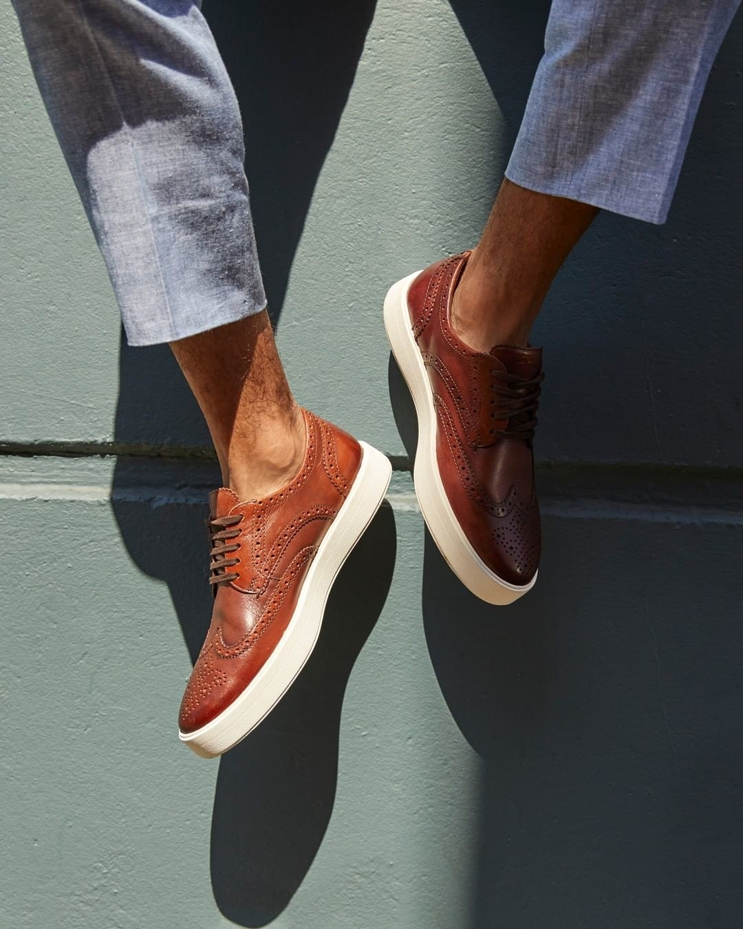 sneakers with brogue detailing