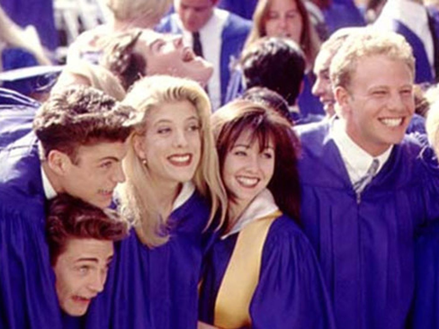 "Graduating class on ""Beverly Hills, 90210"""
