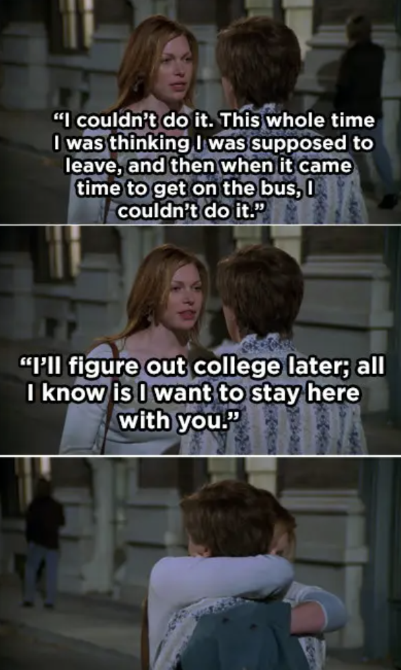 Donna telling Eric she chooses him over going to college
