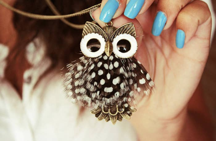 Dangling owl necklace