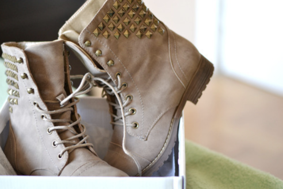 Boots with studs on them