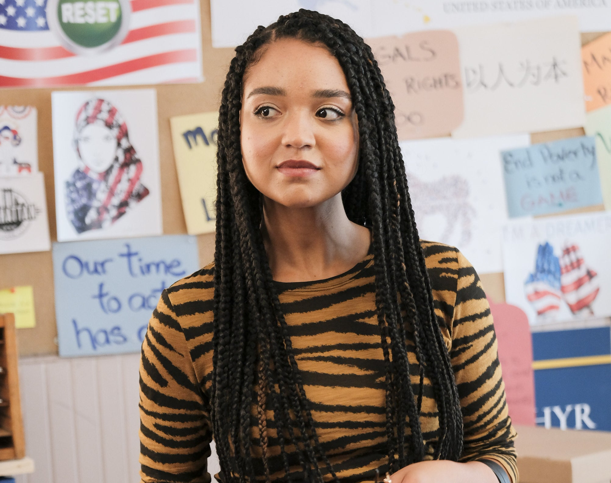 A scene from The Bold Type featuring Aisha Dee.