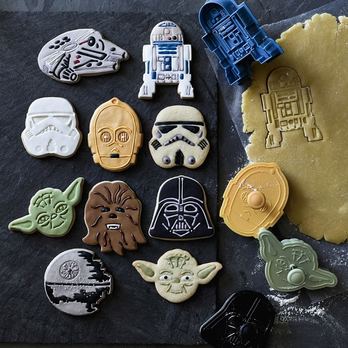 "The cookie cutters and cookies shaped like Darth Vader and other ""Star Wars"" characters"