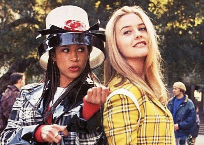 "Cher and Dionne from ""Clueless"" in plaid outfits."