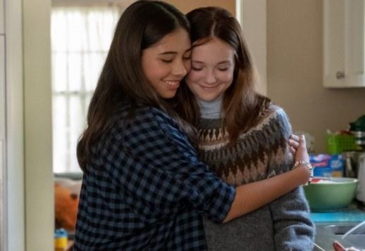 Dawn and Kristy hug.