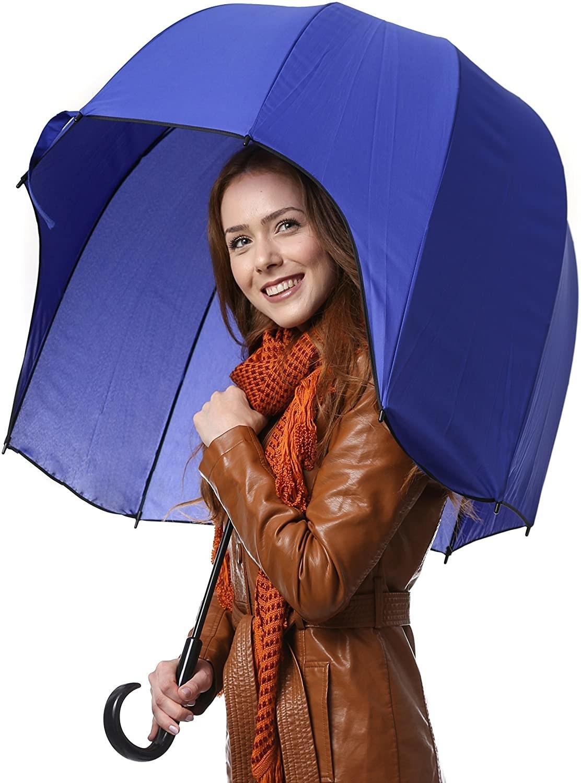A person with an umbrella
