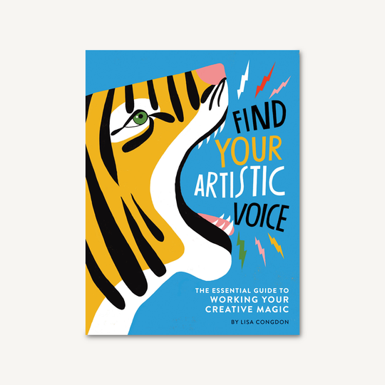 "Book titled ""Find Your Artistic Voice: The Essential Guide To Working Your Creative Magic"""