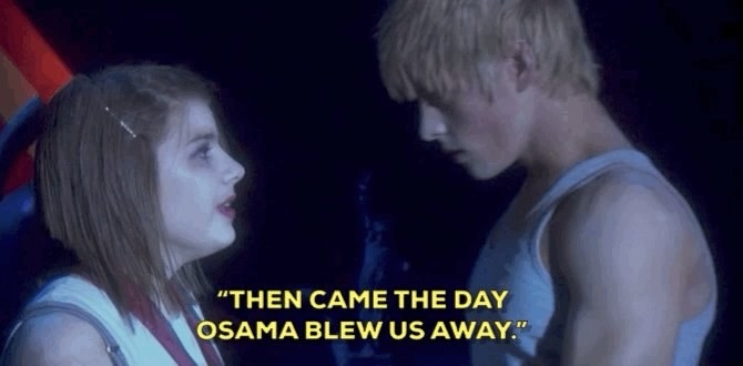 "wearing white makeup on their faces, Sketch and Maxxie sing ""then came the day Osama blew us away"" to each other"