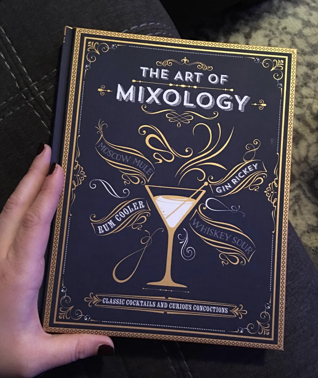 reviewer photo of the cocktail book