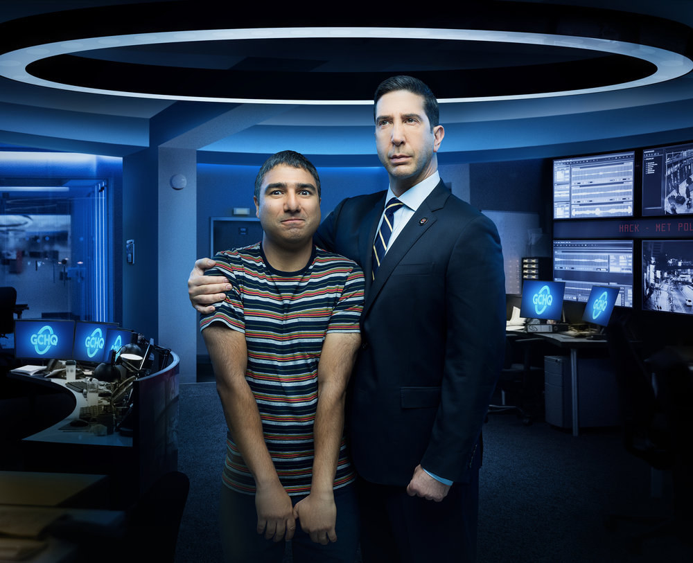 David Schwimmer and Nick Mohammed as Jerry and Joseph in Intelligence