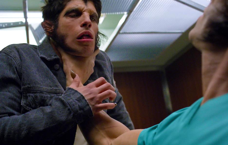 Ennis chokes Scott in the elevator