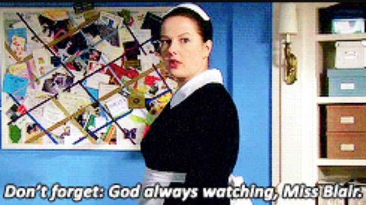 Dorota tells Blair God is always watching
