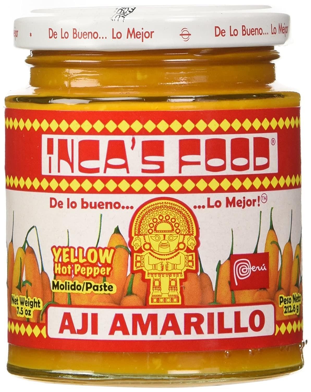 A jar of Inca's Food Aji Amarillo Paste.