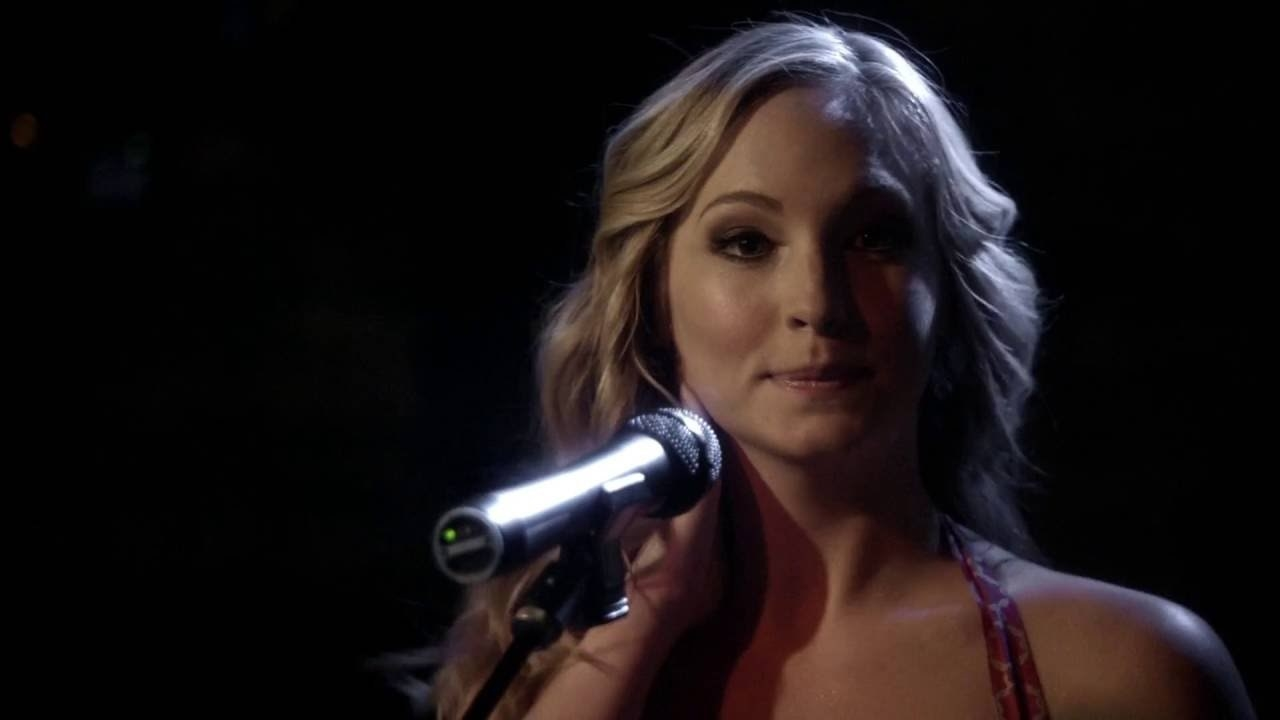 Caroline at the mic