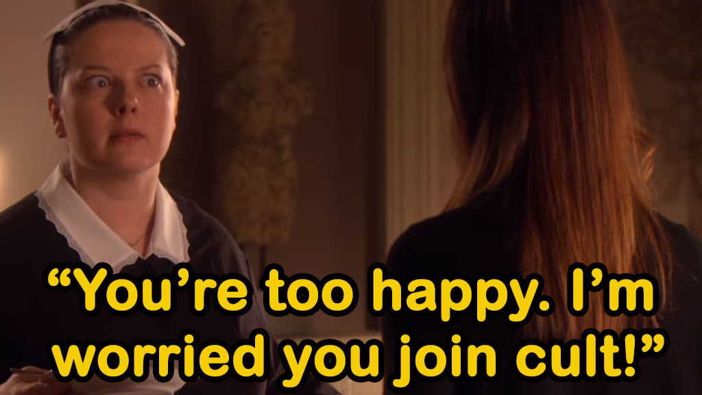 Dorota says Blair is too happy and she's worried she joined a cult
