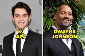 KJ Apa and Dwayne Johnson