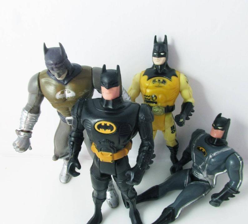 Four different Kenner Batman Action figures