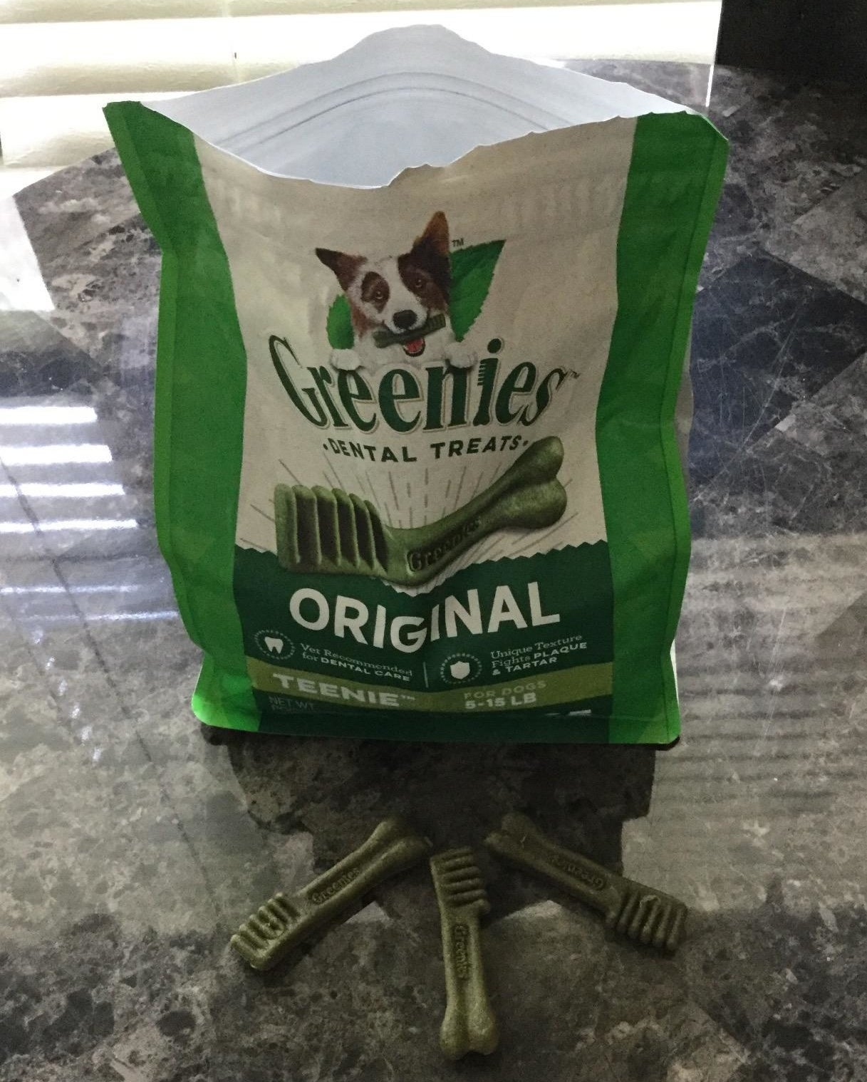 reviewer photo of the Greenie's dental treats