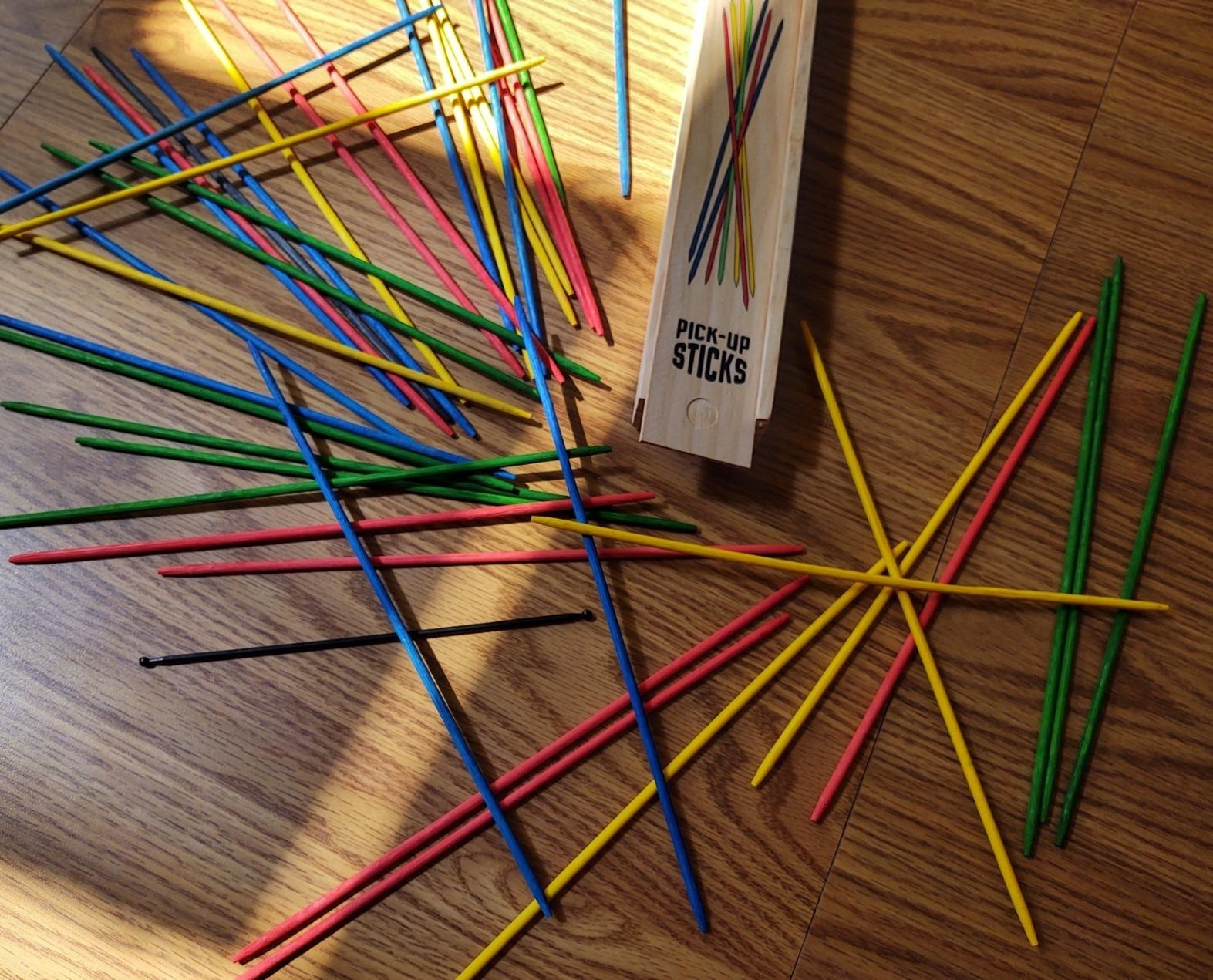 Reviewer photo of the colored sticks