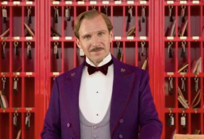 Ralph Fiennes at the hotel in Grand Budapest Hotel