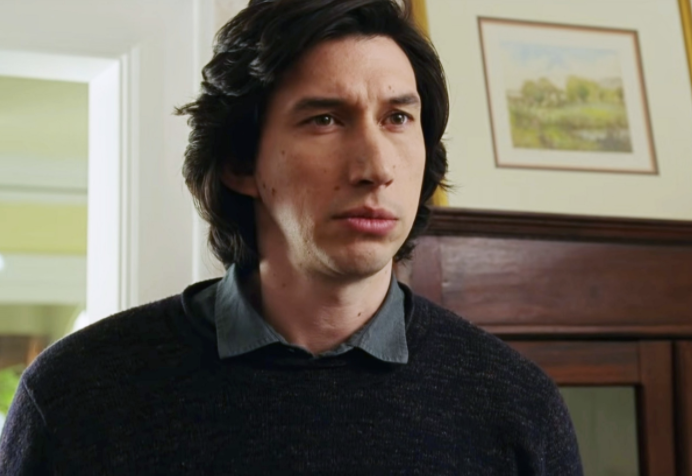 Adam Driver looking serious in Marriage Story