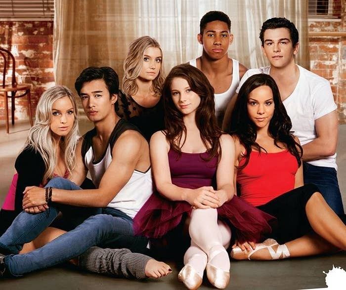 A cast photo of the characters of the characters from Dance Academy