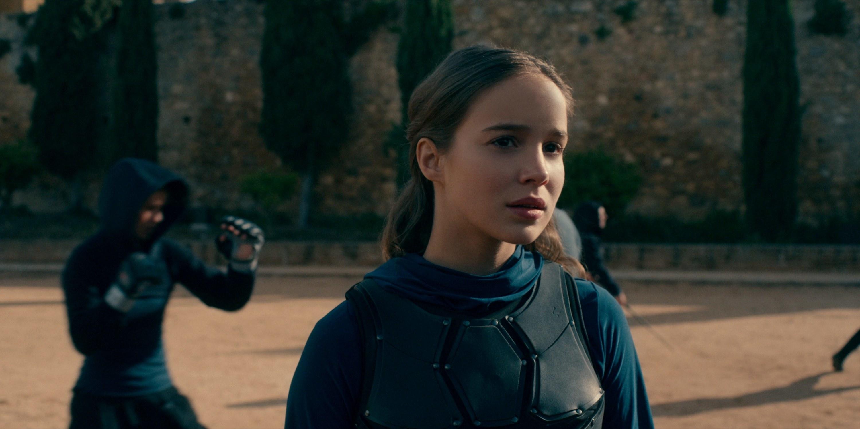 "Alba Baptista as Ava in ""Warrior Nun"" getting ready to fight"