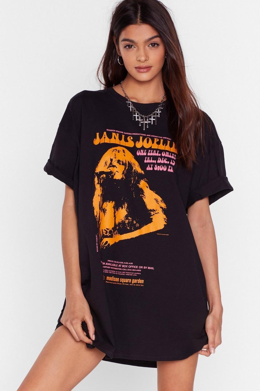 model wearing black t-shirt dress
