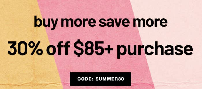 A sale banner on the site